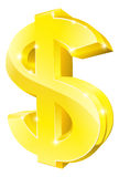 Gold dollar sign Royalty Free Stock Images