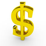 Gold dollar sing. Stock Images