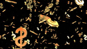 Gold Dollar sings move able seamless loop stock video