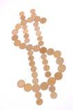 Gold dollar symbol Royalty Free Stock Photo