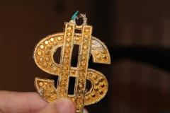 Gold Dollar Symbol. Dollar symbol blur Stock Images