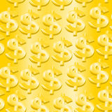 Gold dollar symbol in a seamless pattern Royalty Free Stock Photography