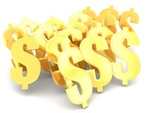 Gold dollar symbol Wealth Stock Photo