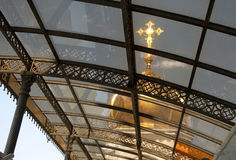 Gold dome of the Cathedral of Christ the Saviour through Royalty Free Stock Photography