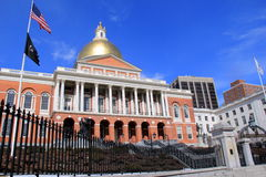 Gold dome on Massachusetts State House,2014 Royalty Free Stock Images