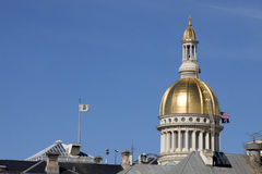 Gold dome of the New Jersey State Capitol Building Royalty Free Stock Images