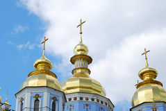 Gold domes Royalty Free Stock Image