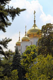 Gold Domes Of An Orthodox Church Royalty Free Stock Photo