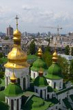 Gold domes of Saint Sophia Cathedral Royalty Free Stock Photo