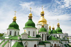 Gold domes of Saint Sophia Cathedral in Kyiv Royalty Free Stock Images