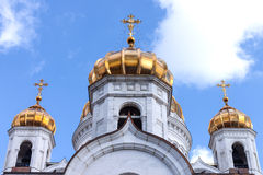 Gold domes of the temple Stock Photos
