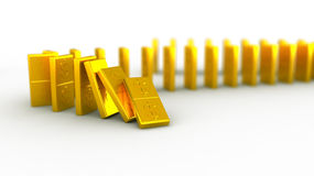 Gold domino dollar Stock Photos