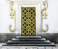 Gold door Stock Image