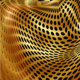 Gold dots abstract Stock Photo