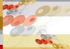 Gold dots background template Stock Images