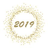 Gold dots circle 2019 gc stock illustration