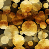 Gold Dots Faux Foil Metallic Black Background. Pattern Texture royalty free stock photos