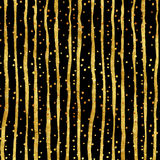 Gold Dots Faux Foil Metallic Stripes Pattern. Gold Dots Faux Foil Metallic Stripes Black Background Pattern Texture stock photography