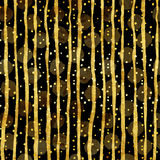 Gold Dots Faux Foil Metallic Stripes Pattern Stock Image