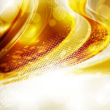Gold dotted background Royalty Free Stock Photography