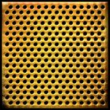 Gold dotted metal background Royalty Free Stock Photos