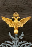 Gold double eagle. On the gate of the Hermitage royalty free stock images