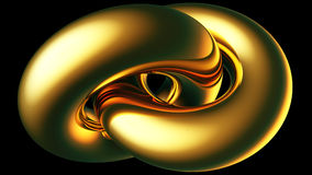 Gold double toroid Royalty Free Stock Photography