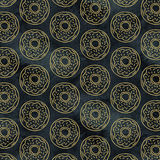 Gold Doughnut Pattern Stock Images