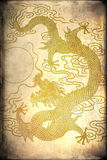 A gold dragon Stock Photos