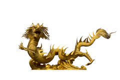 Gold dragon Royalty Free Stock Images