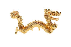 Gold Dragon Figurine Stock Image