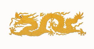 Gold dragon paint Royalty Free Stock Images