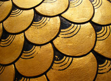 Gold dragon scales Royalty Free Stock Photography
