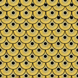 Gold dragon scales pattern Stock Photography