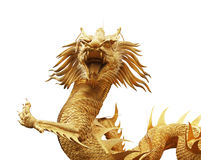 Gold dragon statue in chinese temple Royalty Free Stock Photo