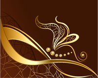 Gold dragonfly vector illustration