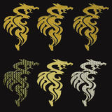 Gold dragons Stock Image