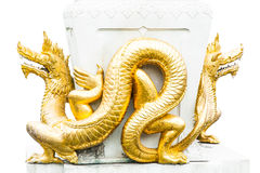Gold dragons Royalty Free Stock Images