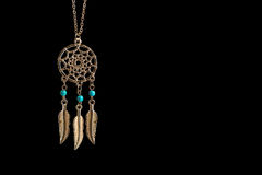 Gold Dreamcatcher Stockbilder