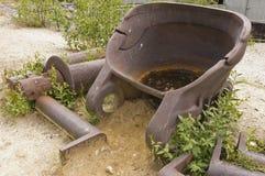 Gold dredge digging bucket Royalty Free Stock Image