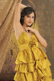 Gold Dress Stock Image