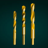 Gold drill bit Royalty Free Stock Photography