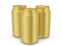 Gold drink cans Stock Image