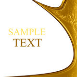 Gold dripping down Royalty Free Stock Photo