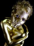 Gold Dust Woman royalty free stock image