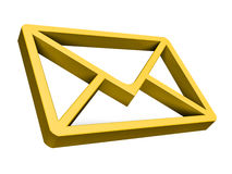 Gold e-mail symbo Royalty Free Stock Image