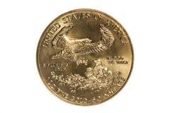Gold Eagle Coin Stockbild