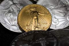 Gold Eagle Coin Royalty Free Stock Photos