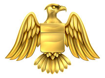 Gold Eagle Design Stock Photography