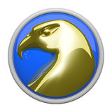 Gold Eagle Icon Stock Photography